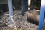 Schadensbild im Keller: Aluminiumlache
