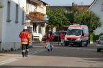 Rettungsdienst trifft ein