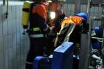 Verletzter im Pumpenkeller