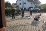 Vorbereitungen: Zeltaufbau