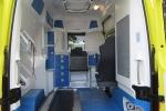 Innenraum eines Rettungswagens