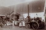 Dampfdreschen in Bächingen um 1910