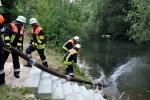 Saugleitung ins Wasser!