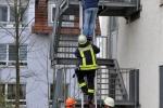 Rettung eines Mannes über die Steckleiter