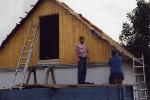 Dach der Garagen decken