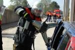 Einsatz hydraulischer Rettungsgeräte