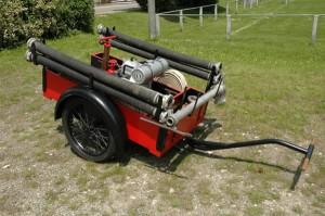 Restaurierte TS 4/5 mit Transportwagen